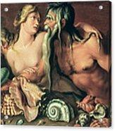 Neptune And Amphitrite Acrylic Print by Jacob II de Gheyn