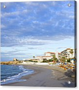 Nerja Beach On Costa Del Sol Acrylic Print