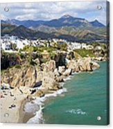 Nerja Town On Costa Del Sol In Spain Acrylic Print