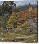 Netley Farm Shere Surrey Acrylic Print