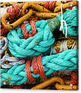 Nets And Knots Number Four Acrylic Print by Elena Nosyreva