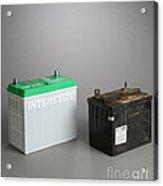 New & Old Automotive Battery Acrylic Print