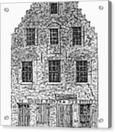 New Amsterdam: House, 1626 Acrylic Print