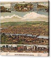 New Brighton Pennsylvania 1883 Acrylic Print