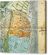 New England To Virginia, 1651 Acrylic Print by Photo Researchers