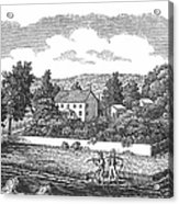 New Jersey Farm, C1810 Acrylic Print