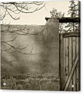 New Mexico Series - Doorway II Black And White Acrylic Print