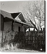 New Mexico Series - Fenced In House Acrylic Print