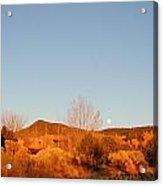 New Mexico Series - Moonrise Autumn Acrylic Print