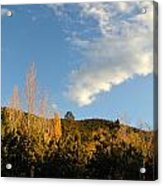 New Mexico Series - Santa Fe Landscape Autumn Acrylic Print