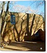 New Mexico Series - Shadows On Adobe Acrylic Print