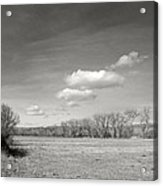 New Mexico Series - The Long View Black And White Acrylic Print