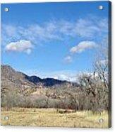New Mexico Series - Winter Desert Beauty Acrylic Print