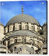 New Mosque Domes In Istanbul Acrylic Print