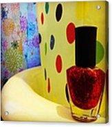 New Nail Polish Acrylic Print by Katie Cupcakes