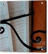 New Oleans White And Orange Acrylic Print