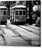 New Orleans Classic Streetcars. Acrylic Print