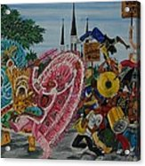 ''new Orleans Secondline'' Acrylic Print