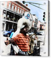 New Orleans Street Musician - Tuba Man Acrylic Print