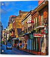 New Orleans Street Scene Acrylic Print