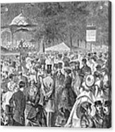 New York: Bandstand, 1869 Acrylic Print