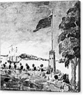 New York: Battery, 1793 Acrylic Print