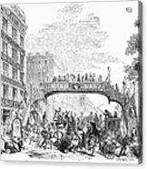 New York: Broadway, 1852 Acrylic Print