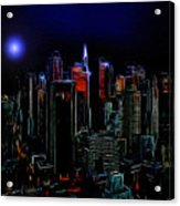New York By Moonlight Acrylic Print