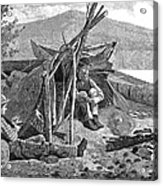 New York: Camping, 1874 Acrylic Print