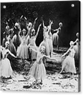 New York City Ballet Performing The Acrylic Print by Everett