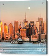 New York City Moonrise IIi Acrylic Print