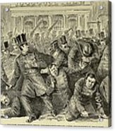 New York City Police Riot Of 1857. Riot Acrylic Print