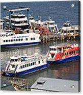 New York City Sightseeing Boats Acrylic Print