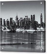 New York City Skyline Morning Twilight Iv Acrylic Print