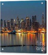 New York City Skyline Morning Twilight Xi Acrylic Print