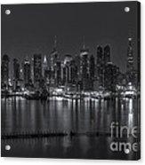 New York City Skyline Morning Twilight Xvi Acrylic Print