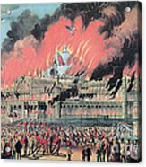 New York Crystal Palace Fire, 1858 Acrylic Print by Photo Researchers