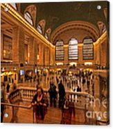 New York Grand Central Acrylic Print