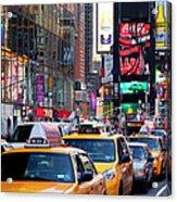 New York Gridlock Acrylic Print