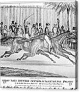 New York: Horse Race, 1845 Acrylic Print
