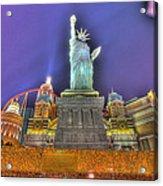 New York In Las Vegas Acrylic Print by Nicholas  Grunas
