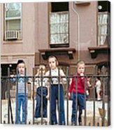 New York Kids 1975 Acrylic Print