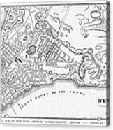 New York: Maps Acrylic Print