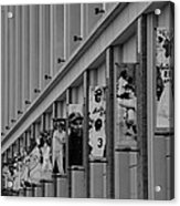 New York Mets Of Old  In Black And White Acrylic Print