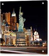 New York Ny Las Vegas Acrylic Print