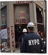 New York Police Department Set Acrylic Print
