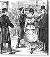 New York Police Raid, 1875 Acrylic Print