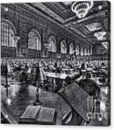 New York Public Library Main Reading Room Vi Acrylic Print by Clarence Holmes