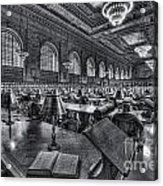 New York Public Library Main Reading Room Vi Acrylic Print