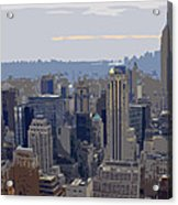 New York Skyline From The Rockefelller Acrylic Print